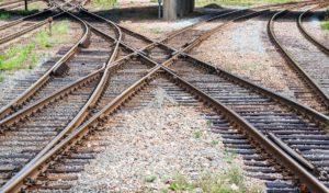 Bild som föreställer ett järnvägskors